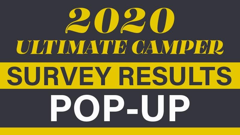 2020 Ultimate Camper Survey Results Pop Up
