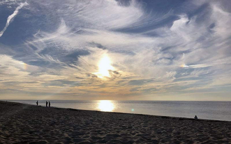 Camping Near The Beach Sunset