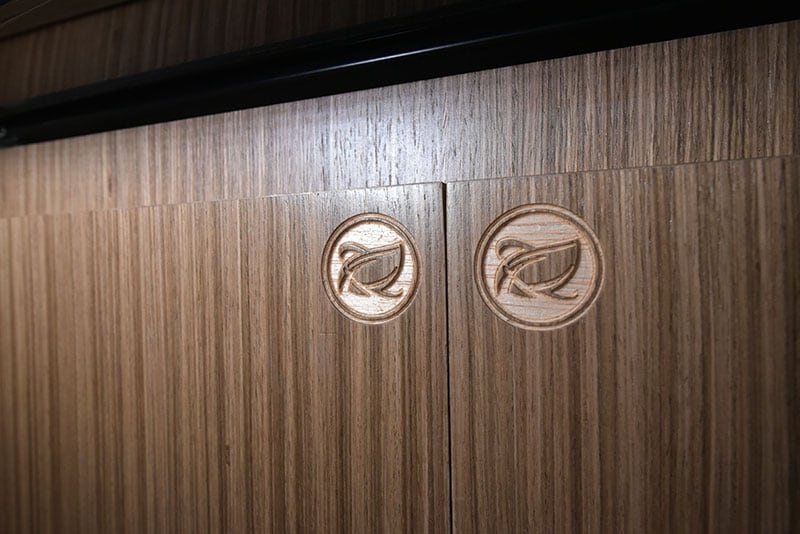 Cirrus 720 NuCamp Logo Engraved Cabinetry