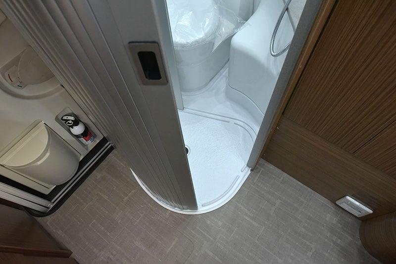 Cirrus 720 Wet Bath Door Half Open