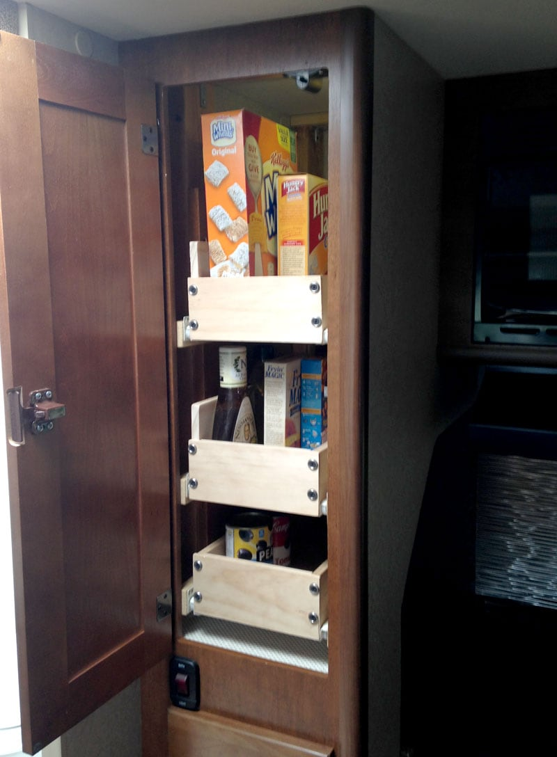 Lance 855S Installed Pull Out Pantry