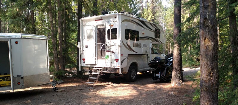 Lance Camper Tow Motorcycle Trailer