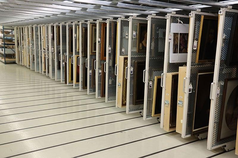 Preservation Center Of Canada Row Of Art Racks