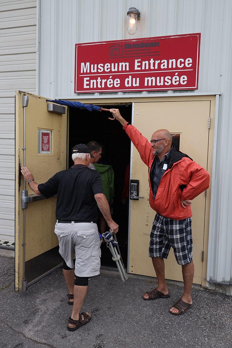 Quebec Bunker Bob Holds Door