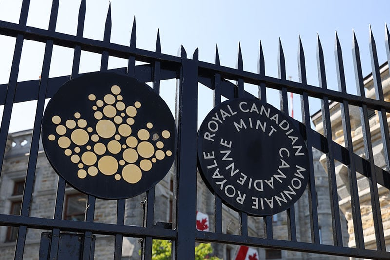 Ottawa Canadian Mint Gate Sign