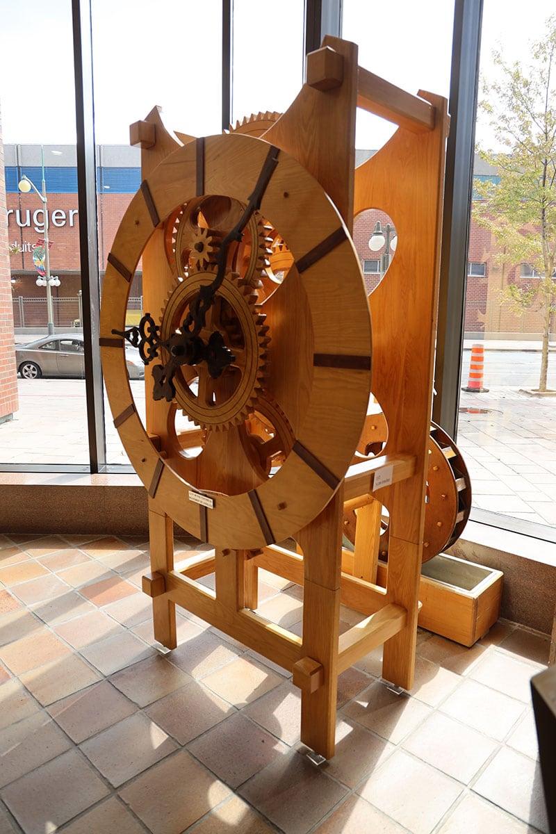 Quebec Gatineau Wood Clock