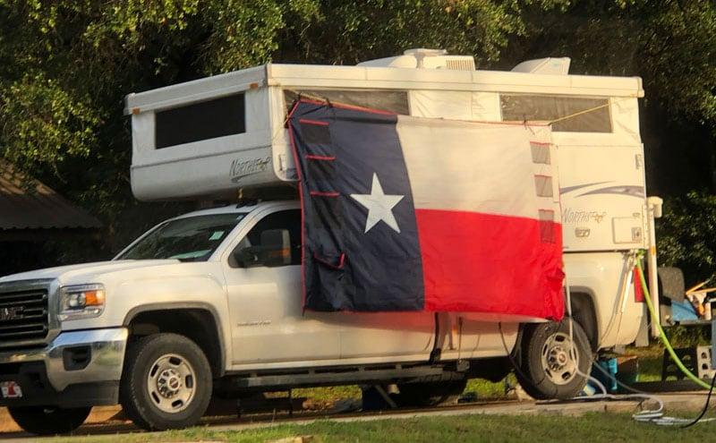 Texas Flag Northstar Camper
