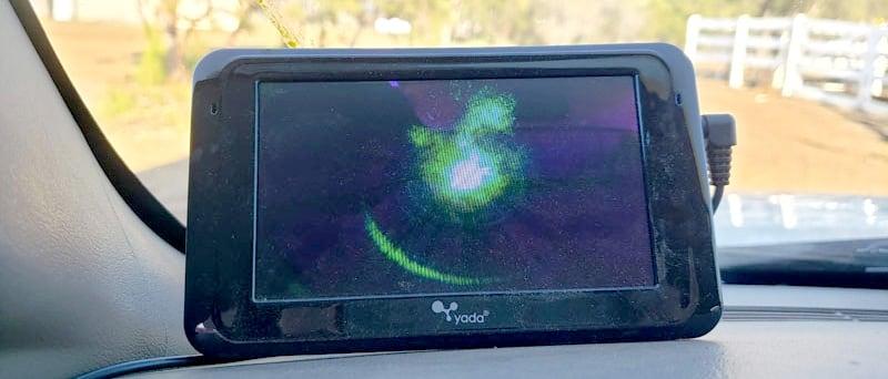Yada Camera Showing Laser Pointing at Camera