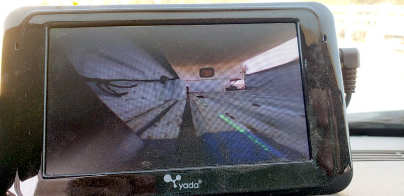 Yada Camera View From Truck misaligned
