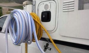 Hanging Power Cord And Water Hose