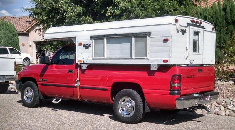 Vintage Alaskan 8 Red Truck