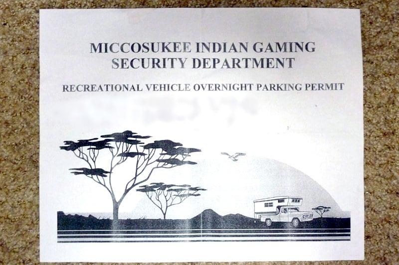 Camper On Casino Permit