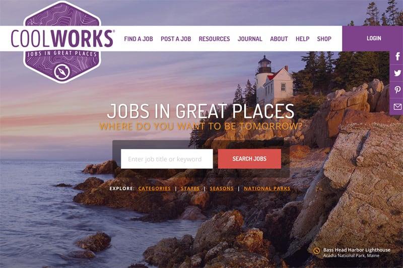 Cool Works Jobs Website