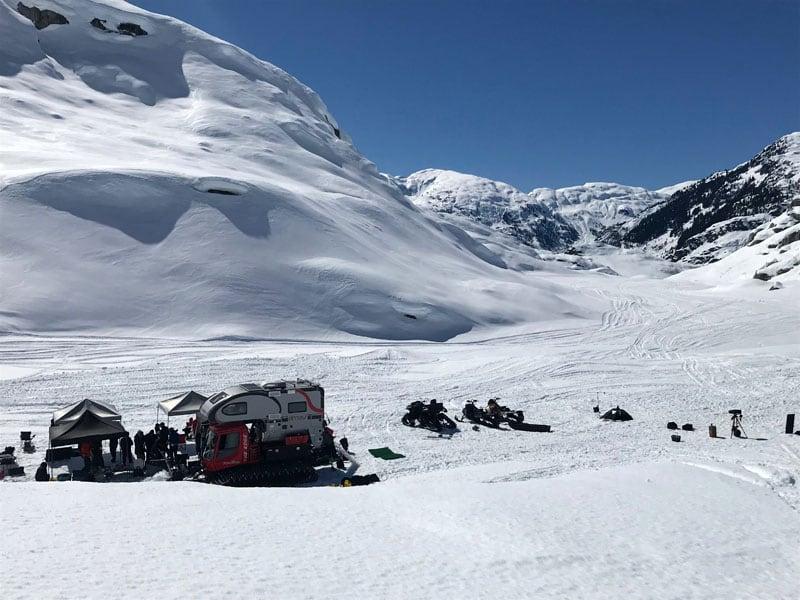 Film Shoot On The Ice Cap