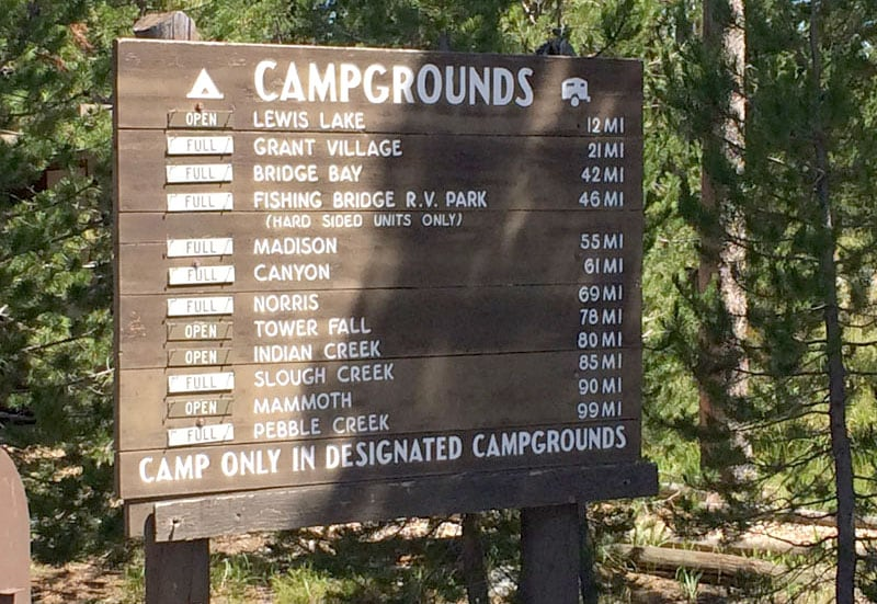 Full Campgrounds Make Reservations