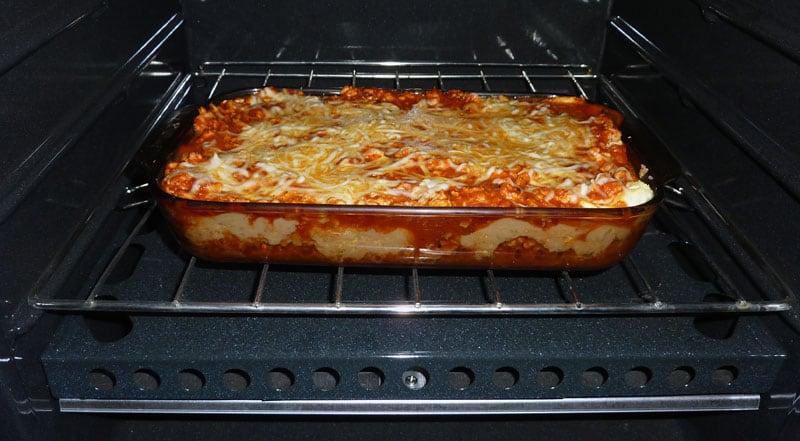 Lasagna In RV Oven