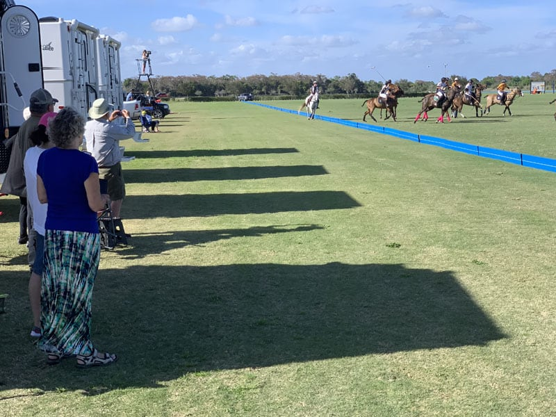 Polo Match Campers On Sidelines
