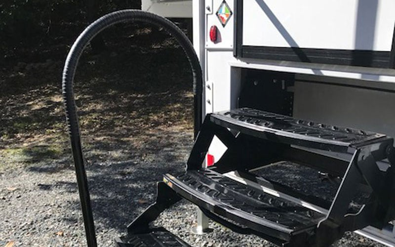 Removable Hand Rail for Side Entry Campers - Truck Camper Magazine