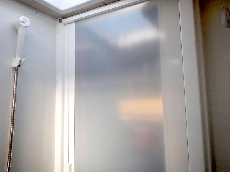 Retractable Camper Shower Door Wet Bath