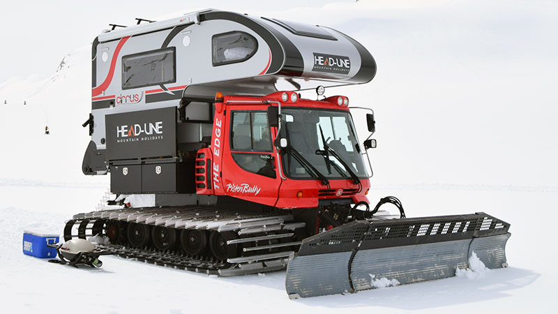 Snowcat truck camper full rig photo