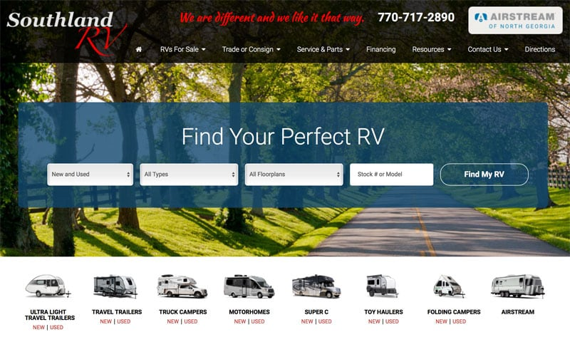Southland RV New Website
