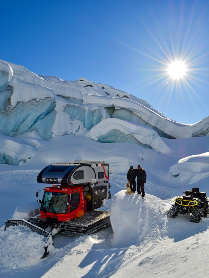 Sunny Day On The Ice Cap With Camper