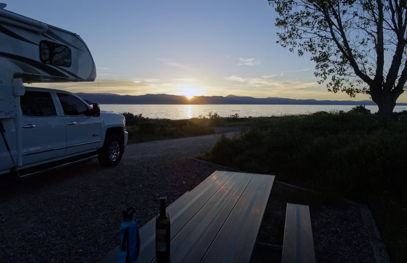 Sunset Over Bear Lake Lance Camper