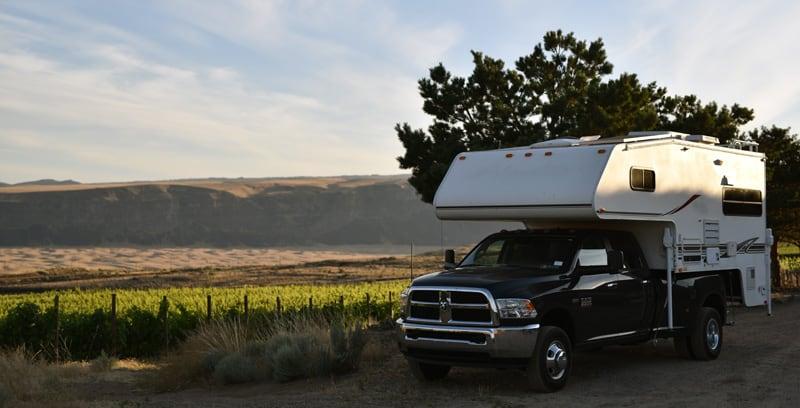Washington State Dry Camping Vineyard