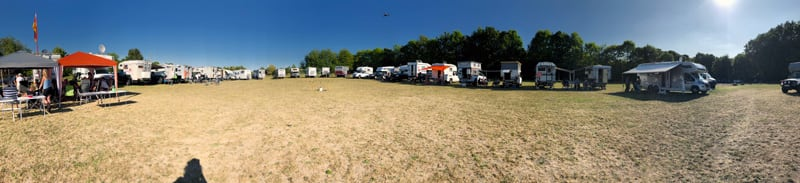 Panoramic View Of The Germany Camper Meeting