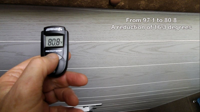 Ceiling Temperature After Tropi Cool