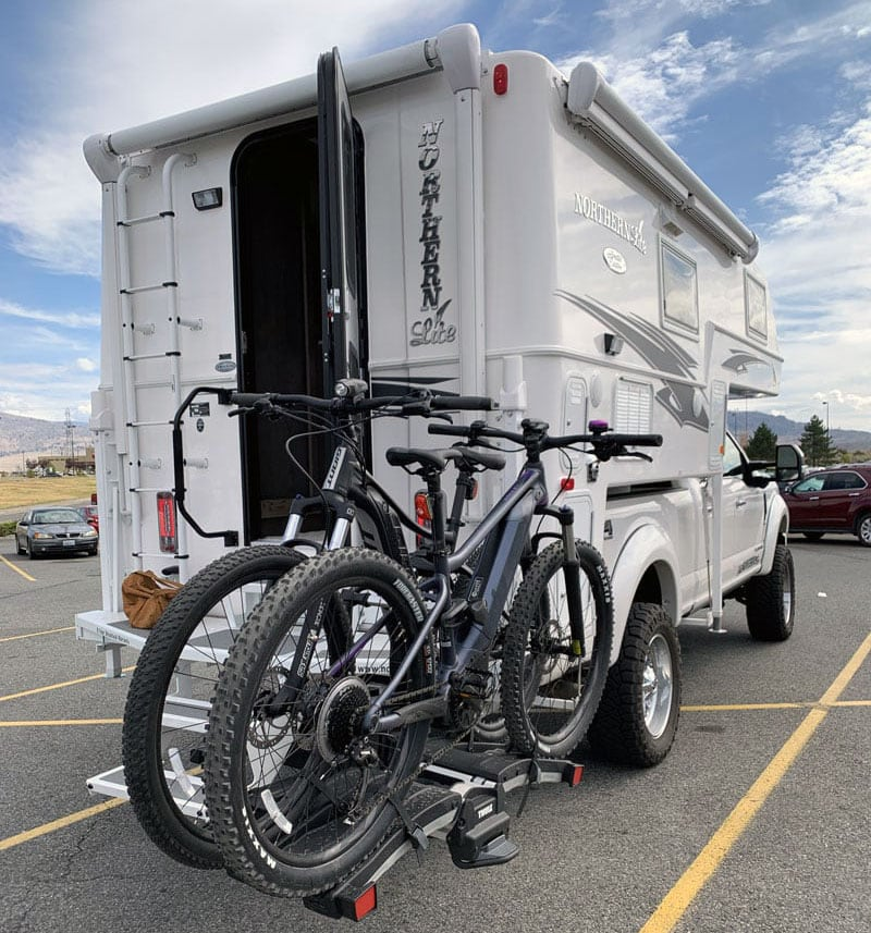 Northern Lite Camper with Swing Away Bike Rack