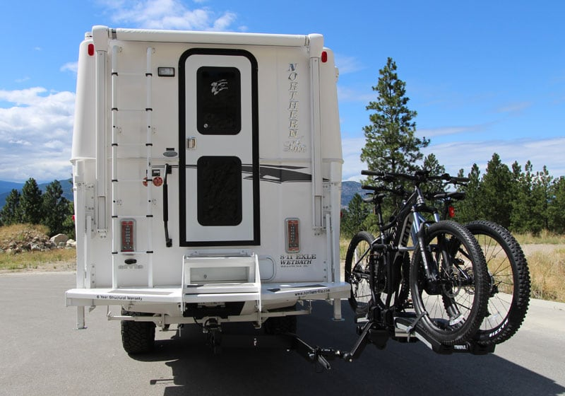 Hitch Bike Rack used with Northern Lite camper