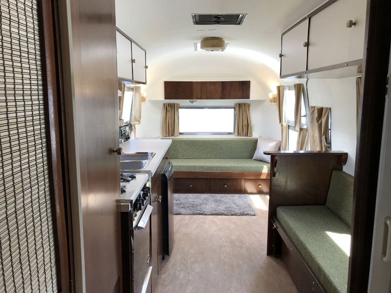 Refurbished Airstream Dinette