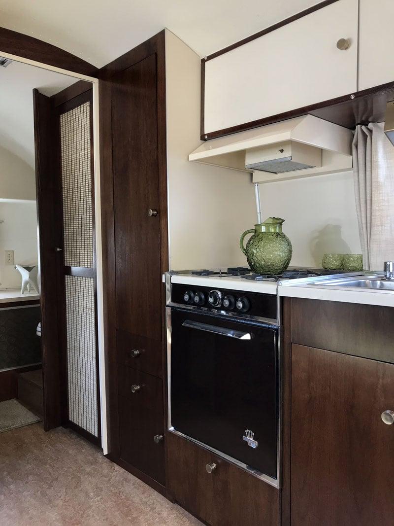 Refurbished Airstream Kitchen