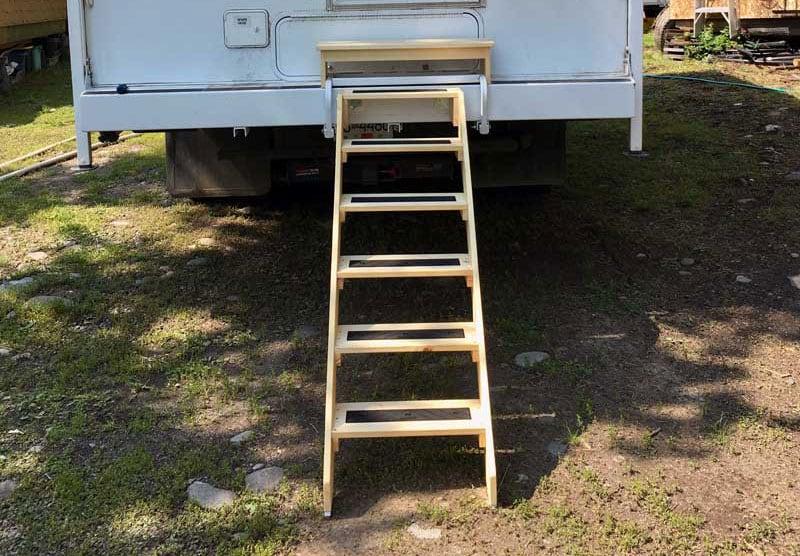 Safer Entry Steps For A Truck Camper - Truck Camper Magazine