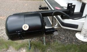 Swing Out Barbecue Grill Made From Propane Tank