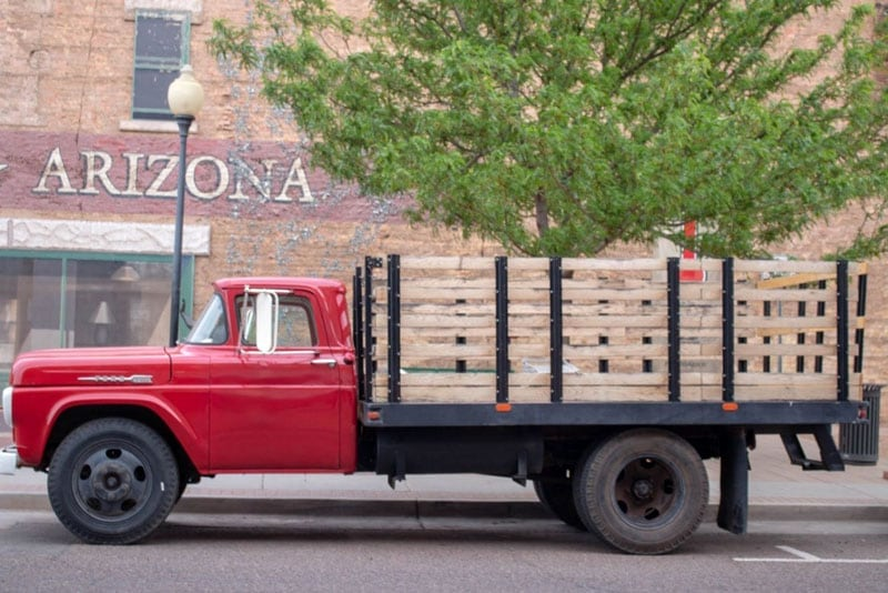 Winslow Red Truck Arizona