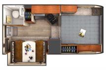 2020 Lance 855S Floor Plan BG