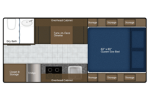 2020 Northern Lite 8-11EX Limited Dry Bath Floor Plan