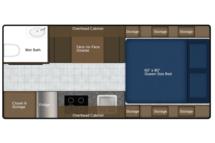 2020 Northern Lite 8-11EX Wet Bath Floor Plan