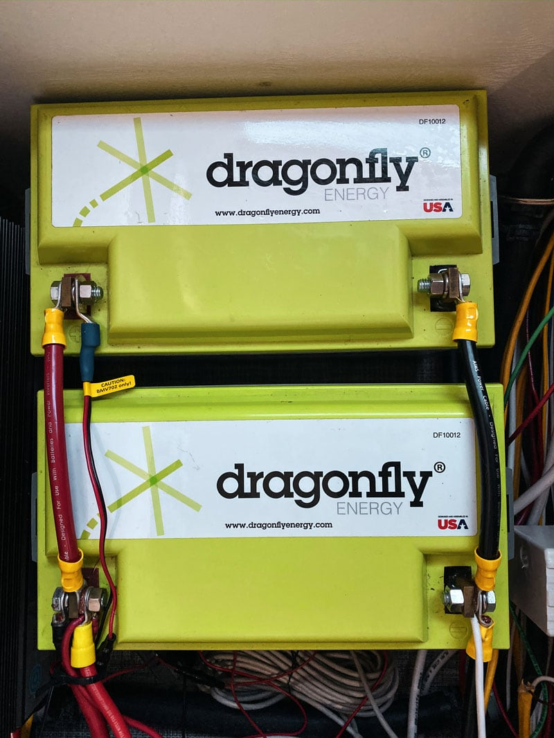 Dragonfly Batteries in Cirrus Camper