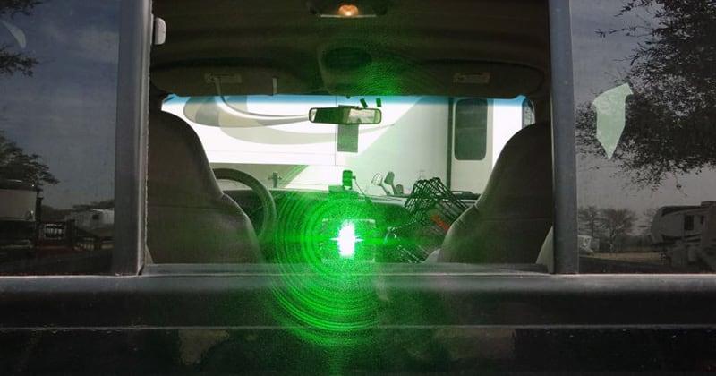 Green Laser To Help Load Camper