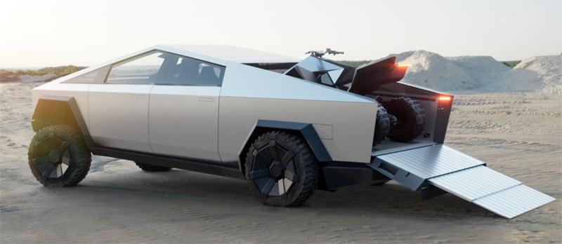 Tesla Cybertruck And ATV