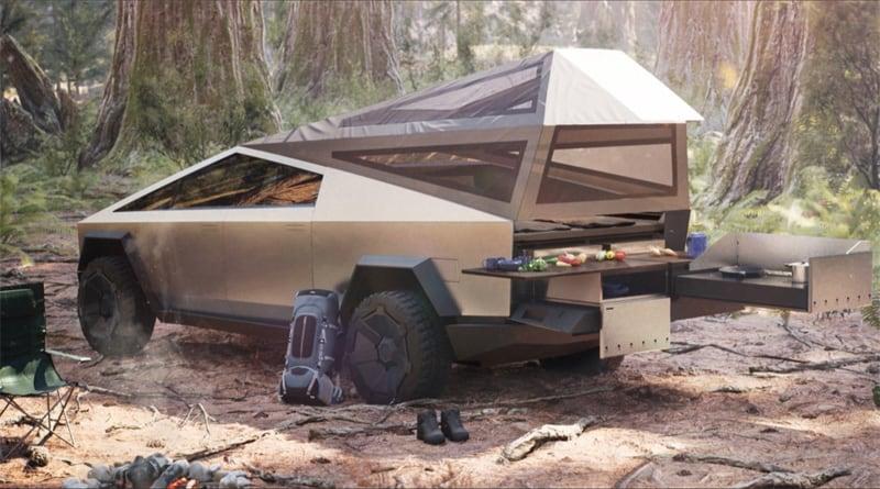 Tesla Cybertruck Intended For Camper