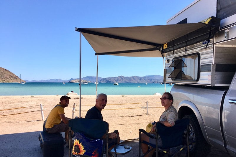 Camping On The Beach At Playa Santispac, Bahía Concepciòn, BCS