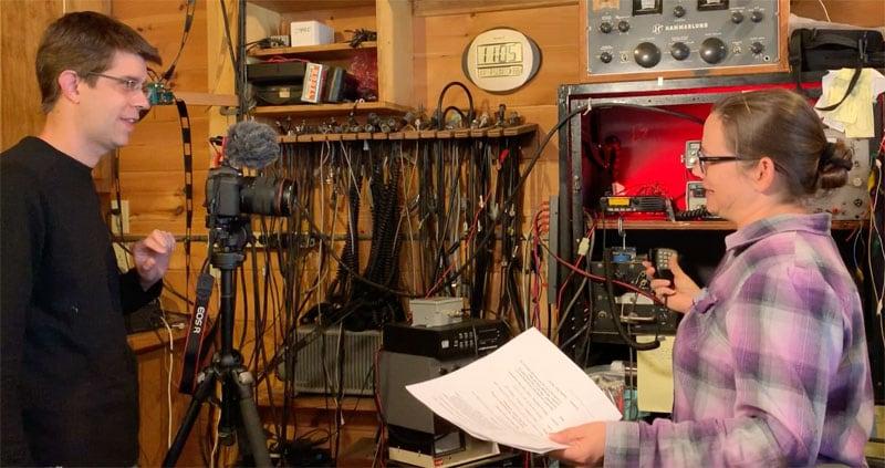 Colleen Script During Ham Radio Scene