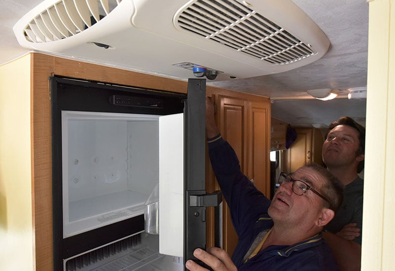 Dometic Refrigerator Install Dry Fit Measure Check