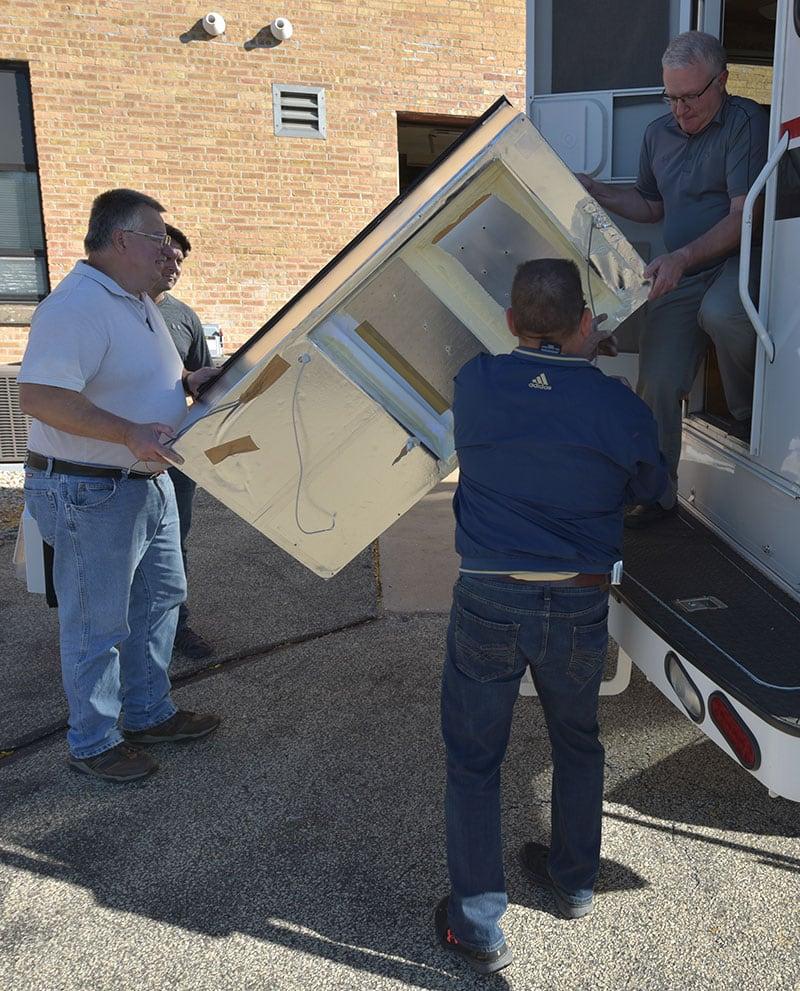 Dometic Refrigerator Install Main Unit Through Door