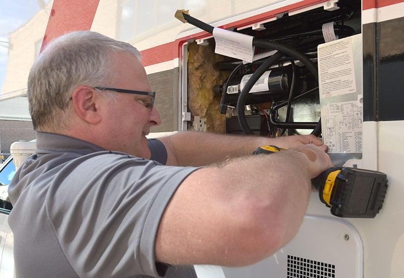 Dometic Refrigerator Install Exterior