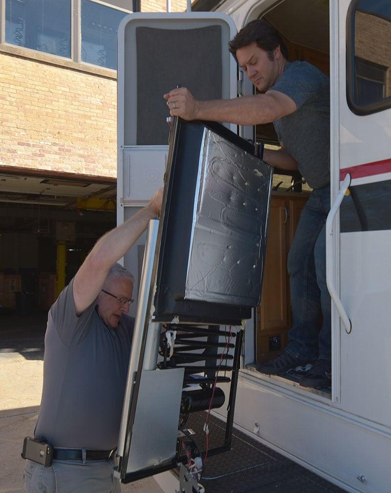 Dometic Refrigerator Install Rear Assembly In Door